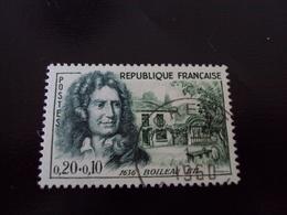 """à Partir De 1960-timbre Oblitéré N° 1259    """" Nicolas Boileau      """"      Cote     3   Net    1.5 - Used Stamps"""