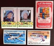 Montserrat 1985 Royal Visit Aviation Aircraft MNH - Montserrat