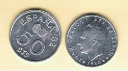 ESPAÑA - 50 Centimos 1980 Futbol  SC X 2 Monedas - [ 5] 1949-… : Reino