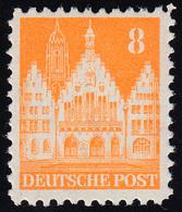 Bizone 78 WB Bauten 8 Pf., Orangegelb, Weit ** - Bizone