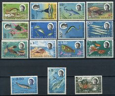 1968/70 - B.I.O.T. - FISHES -   15 VAL.  M.N.H.- LUXE !! - British Indian Ocean Territory (BIOT)