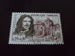"""à Partir De 1960-timbre Oblitéré N° 1258    """"  Henri De La Tour D Auvergne    """"      Cote    3    Net        2 - France"""
