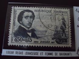 """à Partir De 1960-timbre Oblitéré N°  1262   """" Edgar Degas     """"      Cote   5     Net      2.5 - France"""