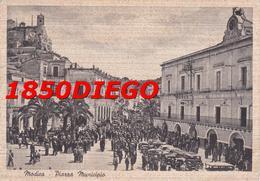 MODICA - PIAZZA MUNICIPIO F/GRANDE VIAGGIATA 1958 BELLA ANIMAZIONE - Modica