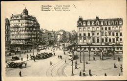 BRUXELLES :   Place Rogier Et Hôtel Des Boulevards - Monuments, édifices