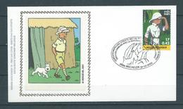 Belgique FDC Soie 3048 Tintin Kuifje Superbe - FDC