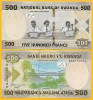 Rwanda 500 Francs P-new 2019 UNC Banknote - Rwanda