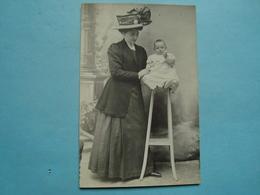 36 - Le Blanc - Carte Photo - Une Mère Et Son Enfant - Photo Perraguin - Le Blanc
