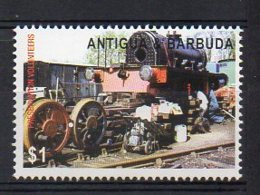 ANTIGUA & BARBUDA. TRANSPORTS. TRAINS. MNH (3R0420) - Eisenbahnen