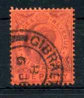 1903 GIBILTERRA N.38 USATO - Gibilterra