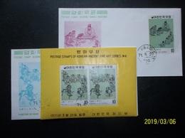 South Korea, R.O.K.: Souvenir Sheet & Stamp Ca-FDC (#TN9) - Korea, South