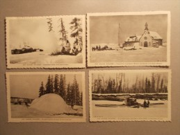 Lot 4 Cartes Postales : AUX GLACES POLAIRES - Esquimaux Cf Description (1/2) - Amérique