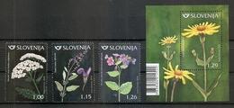SLOVENIA 2018,new 23.3.,FLORA,MEDICAL PLANTS,PULMONARIA,ACHILLEA,SALVIA,ARNICA,,MNH - Piante Medicinali