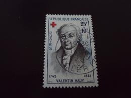 """à Partir De 1960-timbre Oblitéré N° 1227    """"    Croix Rouge, V, Hauy  """"     1.5 - France"""