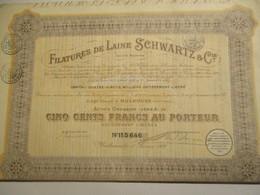 Société Anonyme Filatures De Laine SCHWARTZ - Textiel