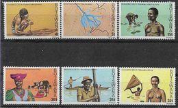 1978 BOTSWANA 367-72** Okavango, Pêche - Botswana (1966-...)