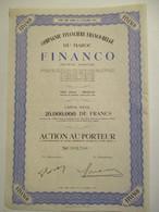 Compagnie Financière Franco-belge Du Maroc - FINANCO - Banque & Assurance