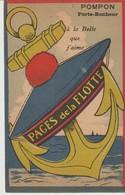 CPA - POMPON - PORTE BONHEUR - A LA BELLE QUE J'AIME - PAGES DE LA FLOTTE - J. NOZAIS - Humoristiques