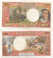 French Pacific - 1000 Francs 2002 Condition - F Pick 2g Lemberg-Zp - Papeete (Polynésie Française 1914-1985)