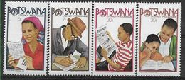 1981 BOTSWANA 425-28** Analphabétisation, écriture, Journal - Botswana (1966-...)