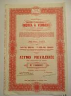 Anciens établissements Morel Et Verbeke - Action Privilégiée - Non Classés