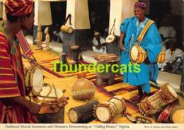 CPSM NIGERIA PHOTO JOHN HINDE TRADITIONAL MUSICAL INSTRUMENTS WITH DRUMMERS DEMONSTRATION - Nigeria