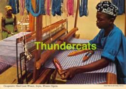 CPSM NIGERIA PHOTO JOHN HINDE CO OPERATIVE HAND LOOM WEAVER ISEYIN - Nigeria