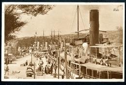 Rab, Insel, 5.6.1934, Hafen Mit Vielen Schiffen, Dampfer, Kvarner Bucht, Adria.....Foto Zaza..Stempel Ragusa - Croatia