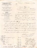 15-0798    1877  A. MOYNET & FILS A PARIS - M. PEYGUE A BORDEAUX - France