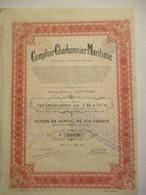 Comptoir Charbonnier Maritime - Action De 500 Francs - Capital 20 000 000 - Mines