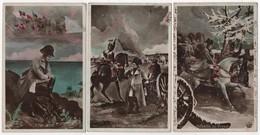 CPA Lot De 5 NAPOLEON Série ELD 4419 Wagram Waterloo Russie Saint Hélène Légion D'honneur - Andere Kriege