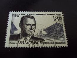"""à Partir De 1950  -timbre Oblitéré N°  1120   """"  Leo Lagrange    """"     0.45 Photo 3 - Usados"""