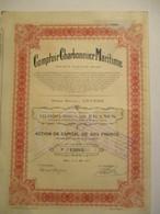Comptoir Charbonnier Maritime - Action De 500 Francs - Capital 10 000 000 - Mines
