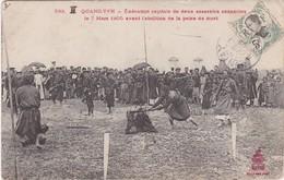TONKIN - QUANG-YEN  - Exécution Capitale De Deux Assassins Annamites, 7 Mars 1905, Avant L'abolition De La Peine De Mort - Viêt-Nam