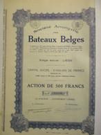 Société Anonyme Des Bateaux Belges - Navigation