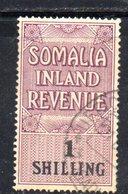 Y315 - SOMALIA INLAND REVENUE , 1 Shilling Usato Con Gomma - Somaliland (Protectorat ...-1959)