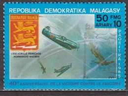 Aviation - MADAGASCAR - Escadrille Normandie-Niémen - Yak 3 - N° 738 - 1985 - Madagascar (1960-...)