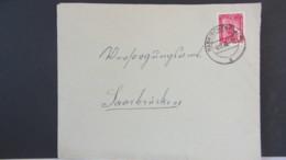 Frz-Zone: Bedarfs-Brief Mit 15 Fr. Einzelfrankatur Universität Aus Habkirchen Vom 6.12.49 Nach Saarbrücken Knr: 264 - Zone Française