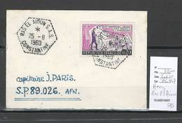 Algerie - Lettre  - Cachet Hexagonal RAS EL AIOUN SAS -  Marcophilie - Algérie (1924-1962)