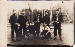 CP Photo 14-18 Soldats Jouant Aux Boules, Pétanque (A206, Ww1, Wk 1) - Guerre 1914-18