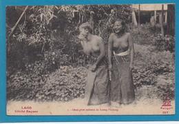 LAOS Deux Gaies Enfants De Luang Prabang Seins Nus Cliché Raquez Saigon 217 - Laos
