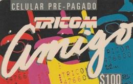 Dominicana - Tricom Amigo $ 100 - Dominicaine