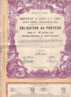 Alb 3Ville De Paris 1931N=6 - Aandelen