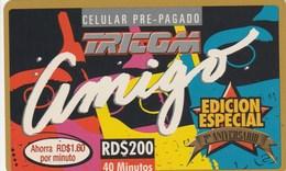 Dominicana - Tricom Amigo RD$ 200 (Edicion Especial) - Dominicaine