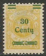 Klaipeda (Memel) - 1923 Arms Surcharge 30c/20m MH *    Mi 222 - Memel (1920-1924)