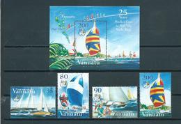 2004 Vanuatu Complete Set+M/Sheet Yacht Race MNH/Postfris/Neuf Sans Charniere - Vanuatu (1980-...)