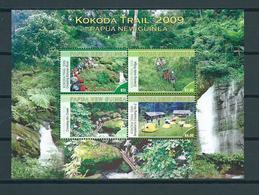 2009 Papua New Guinea Complete Set+M/Sheet Kokoda Trail MNH/Postfris/Neuf Sans Charniere - Papoea-Nieuw-Guinea