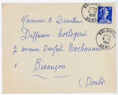 GERS ENV 1958 SOLOMIAC RECETTE DISTRIBUTION (503 HABITANTS EN 1954) - Postmark Collection (Covers)
