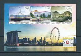 2015 Australia-Singapore-New Zealand Parliament House MNH/Postfris/Neuf Sans Charniere - Ongebruikt