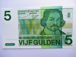 Nederland 5 Gulden 1973 Unc - [2] 1815-… : Royaume Des Pays-Bas